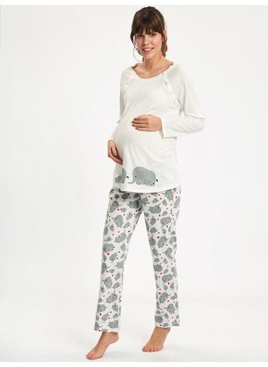 LC Waikiki Pijama Takım Ekru